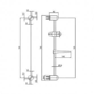 Душевой гарнитур Bianchi SALD18609000CRM цена