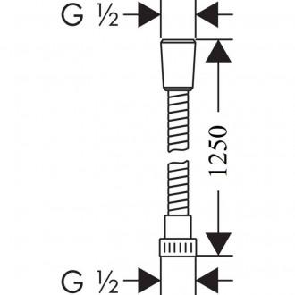 Душевой шланг Hansgrohe 28262000 Metaflex цена