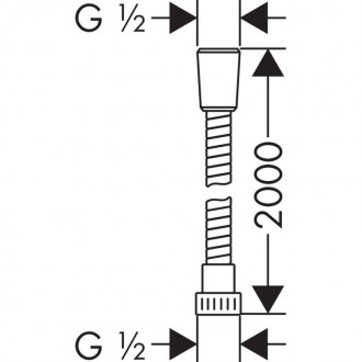 Душевой шланг Hansgrohe 28264000 Metaflex цена