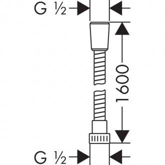 Душевой шланг Hansgrohe 28266000 Metaflex цена