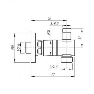 Быстросъемное соединение inGENIUS IG103RALS с фильтром, для стиральной/посудомоечной машин (с краном) 3/4х3/8 цена