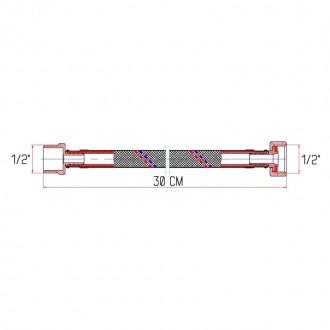 Гибкая подводка для воды SD Forte ВН 30 см цена