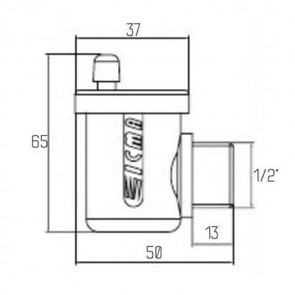 Воздухоотводчик автоматический Icma №715 цена
