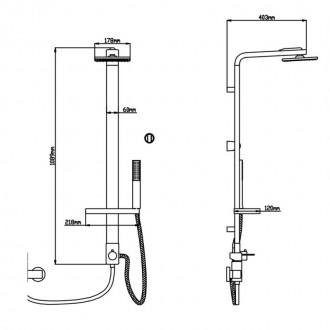 Душевая система Q-tap 1103 CRM цена