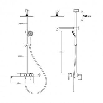 Душевая система Q-tap 1104 BLA цена