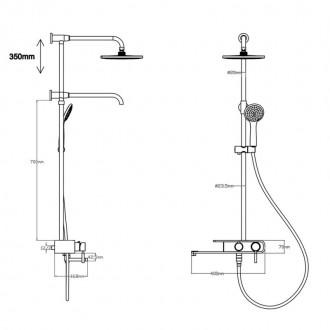 Душевая система Q-tap 1109 BLA цена