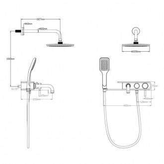 Душевая система Q-tap 1111 BLA цена