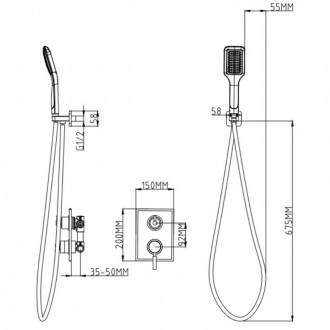 Душевая система Q-tap 1112 CRM цена