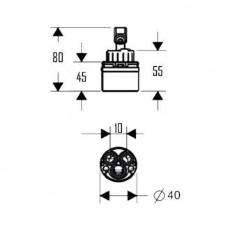 Картридж Q-tap 40 mm new цена