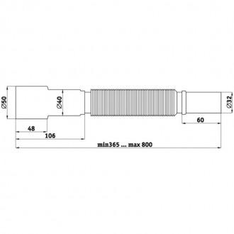 Гибкая труба ANI Plast К306 32х40/50 длина 400 мм - 800 мм цена