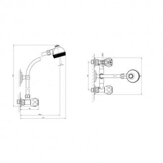Душевая система Ukrsanlit 363-1 (СД11У0Х233) цена