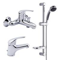 Набор смесителей для умывальника, ванны и душевая стойка Bianchi Star KITSTR2021#SACRM