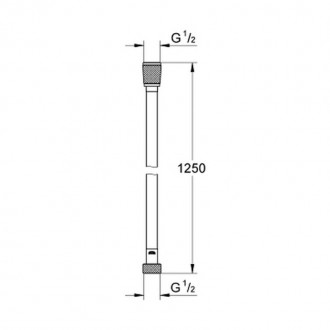 Душевой шланг Grohe Silverflex 28362000 цена