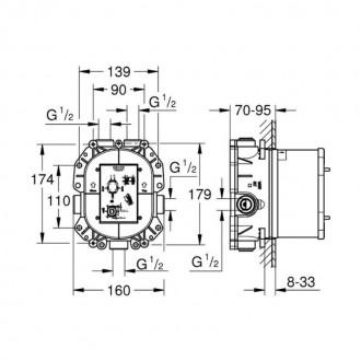 Встроенный универсальный термостат Grohe Rapido T 35500000 цена