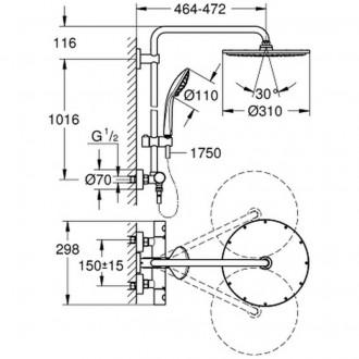 Душевая система Grohe Euphoria XXL 310 26075000 цена