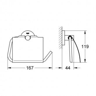 Держатель для туалетной бумаги Grohe Essentials 40367001 цена