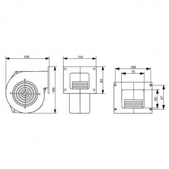 Вентилятор котла KG Elektronik Арт. DP-120 от 35 до 50 кВт цена