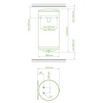 Водонагреватель Tesy Anticalc Slim 80 л, 1,2 кВт GCV 803524D D06 TS2R цена