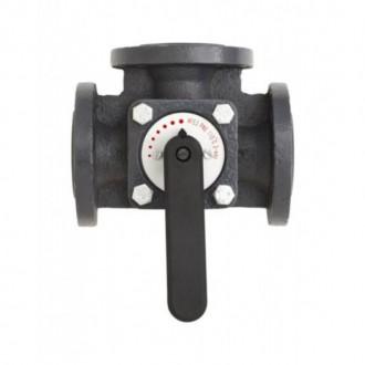 Клапан чугунный трехходовой поворотный Danfoss HFE3 DN65 065Z0433 цена