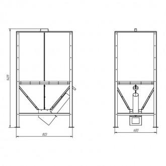 Бункер для твердотопливного котла Thermo Alliance Vulcan SF 0,4 куб. м. цена
