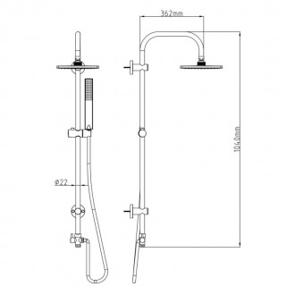 Душевая система Q-tap 1001 CRM цена