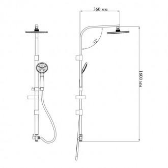Душевая система Q-tap 1003 CRM цена