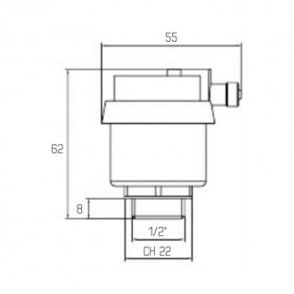 Воздухоотводчик автоматический Icma белый №719 цена