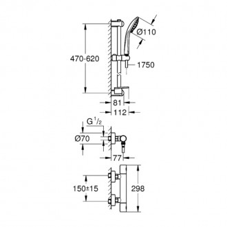 Душевая система Grohe Grohtherm 1000 Cosmopolitan 34286002 цена