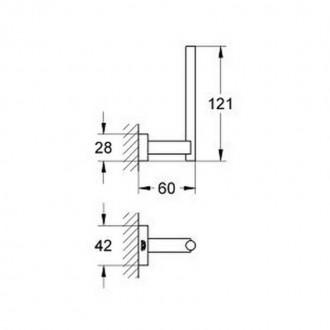 Держатель для запасной туалетной бумаги Grohe Essentials Cube 40623001 цена