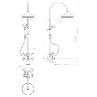 Душевая система Bianchi Liberty VSCLIB1095039VOT цена