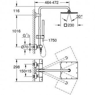 Душевая система Grohe Euphoria XXL 230 26187000 цена