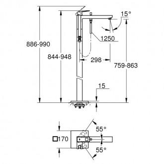 Cмеситель для ванны Grohe Eurocube 23672001 цена