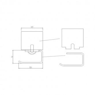 Держатель для туалетной бумаги GF (CRM)S-2803 цена