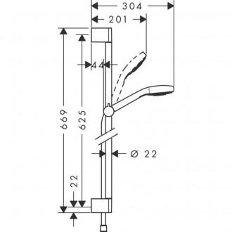 Душевой гарнитур Hansgrohe Croma Select S 26562400 цена