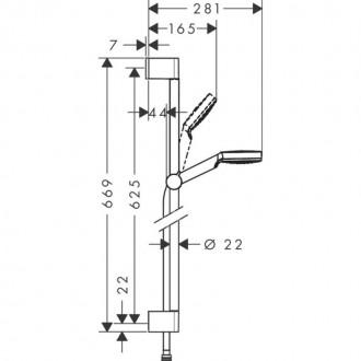 Душевой гарнитур Hansgrohe Crometta 26533400 цена