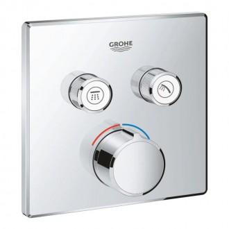 Внешняя часть термостатического смесителя на 2 выхода Grohe SmartControl 29148000 цена