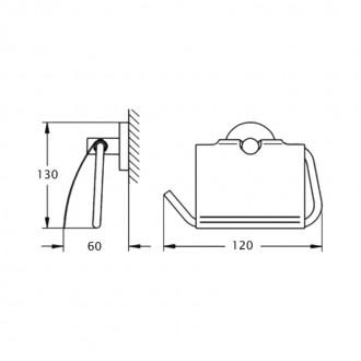 Держатель для туалетной бумаги GF (CRM)/S-2903 цена
