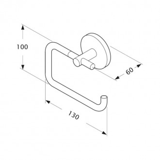 Держатель для туалетной бумаги GF (CRM)/S-2903-2 цена