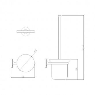 Ершик для унитаза GF (CRM)S-2910 цена