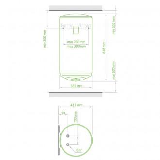 Водонагреватель Tesy Anticalc Slim 50 л, 0,8 кВт GCV 503516D D06 TS2RC цена