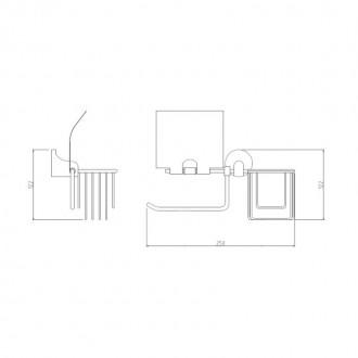 Держатель для туалетной бумаги GF (CRM)S-2803-1 цена