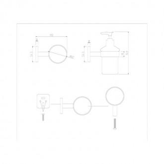 Дозатор для жидкого мыла GF (CRM)S-2727 цена
