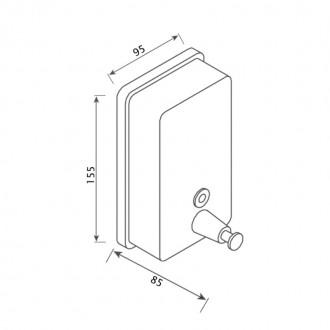 Диспенсер для жидкого мыла GF (CRM)S-405-5 цена