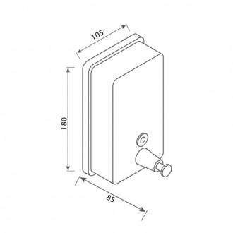 Диспенсер для жидкого мыла GF (CRM)S-405-8 цена