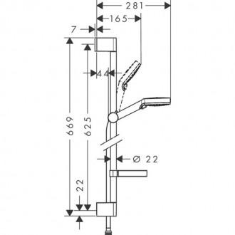 Душевой гарнитур Hansgrohe Crometta Vario 26553400 цена