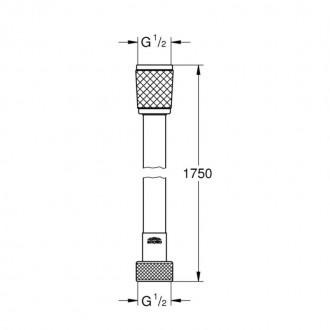 Душевой шланг Grohe Relexaflex 28154001 цена