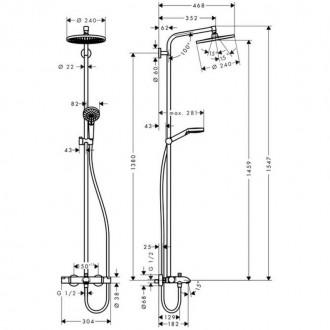 Душевая система Hansgrohe Crometta S 240 27320000 цена