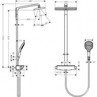 Душевая система Hansgrohe Raindance Select E 360 27112400 цена