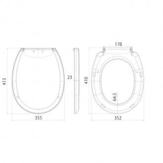 Сиденье для унитаза ANI Plast WS0100 цена
