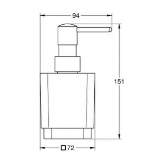 Дозатор для жидкого мыла  Grohe  Selection Cube 40805000 цена